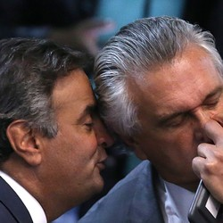 Aécio Neves e Ronaldo Caiado