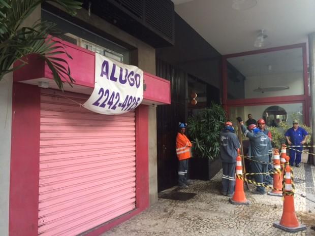 Lojas enfrentam problemas para alugar em trechos interditados pelas obras da linha 4 do metrô  (Foto: Guilherme Brito / G1)
