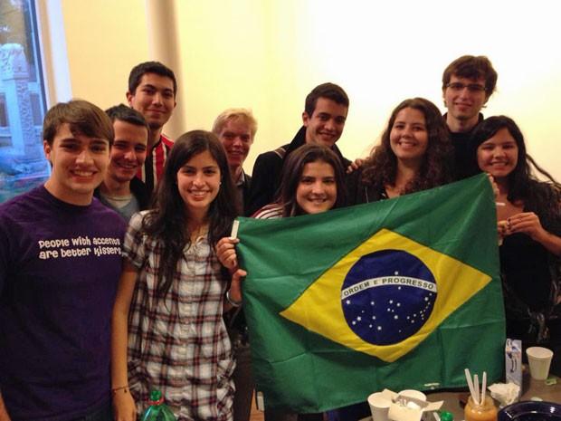 Grupo de brasileiros que estuda em Harvard (Foto: Arquivo pessoal)
