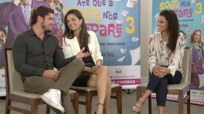 Emanuelle Araújo e Bruno Gissoni também fazem parte do elenco (Foto: Divulgação / TV Gazeta ES)