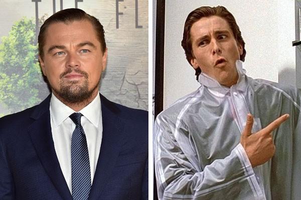 O ator Leonardo DiCaprio, e Christian Bale como Patrick Bateman  (Foto: Getty Images/Reprodução)