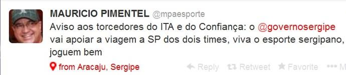 Secretário garante transporte para Itabaiana e Confiança (Foto: Reprodução/Twitter)