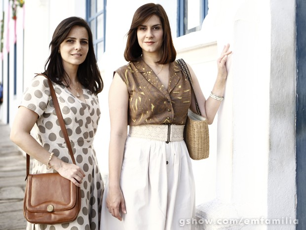 As irmãs Selma (esq.) e Chica abusam de maquiagem em tons pasteis (Foto: Inácio Moraes/TV Globo)
