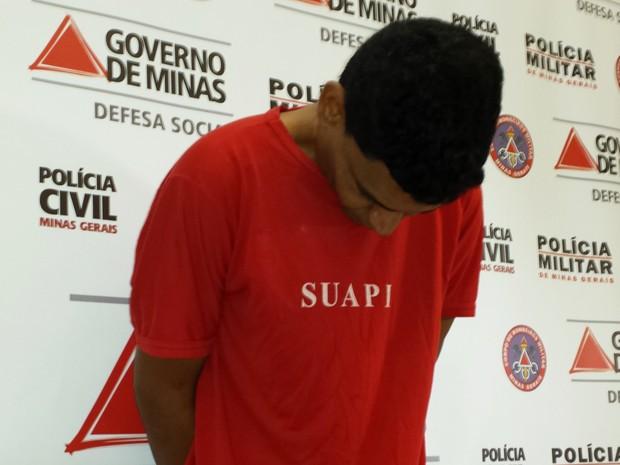 Suspeito de arrombar agências bancárias em Belo Horizonte. (Foto: Alex Araújo/ G1)