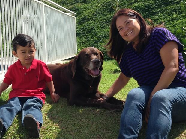 Aurielene deixa sempre o cão da família em um hotel fazenda em Itu durante as férias (Foto: Natália de Oliveira/G1)