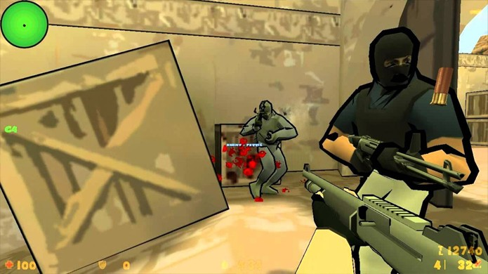 Counter-Strike como um desenho animado parece bem menos violento (Foto: Reprodução/YouTube)