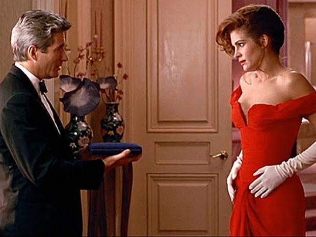 Julia Roberts ficou mundialmente famosa como a prostituta Vivian, de 'Uma Linda Mulher' (Foto: Divulgação)