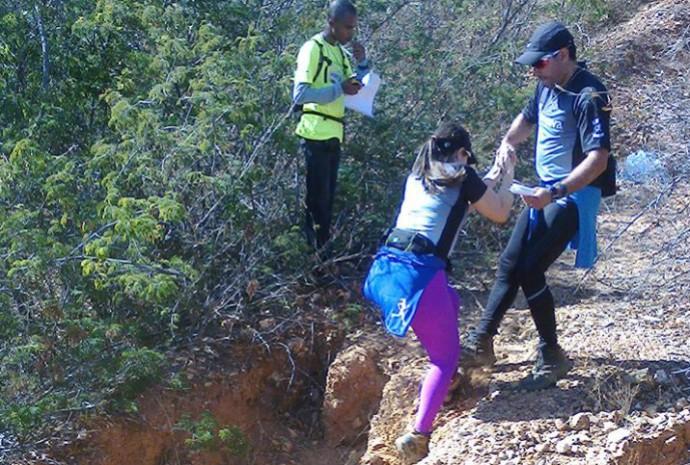Carlos Silva desafiando os obstáculos da trilha. (Foto: Arquivo Pessoal)