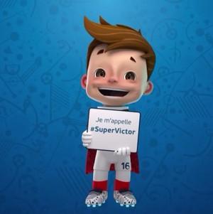 Supervictor é o nome do mascote da Euro 2016 (Foto: site oficial Euro 2016)
