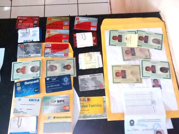 Quadrilha usava documentos falsos para fraudar Previdência Social (Foto: Divulgação/SSP-MA)