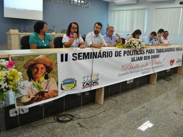 O Seminário serviu para elaborar propostas para a Conferência Municipal dos Direitos da Mulher (Foto: Magda Oliveira/G1)