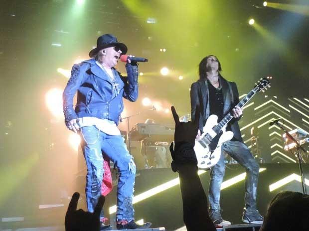 Guns N'Roses no Recife. (Foto: Luna Esther Markman Loureiro / G1)