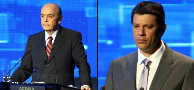 José Serra e Fernando Haddad (Foto: Marcos Alves / Agência O Globo)