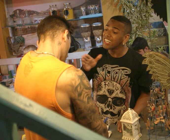 Cleyton só queria agradecer Uood (Foto: TV Globo)