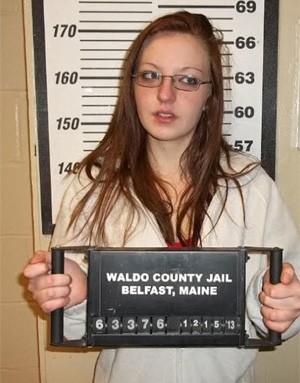 Sophie Guite atacou o marido com golpes de espátula na testa e acabou presa (Foto: Divulgação/Waldo County Sheriff's Office)
