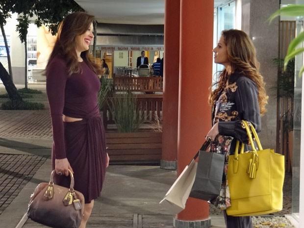 Claudia Raia e Giovanna Antonelli gravam cenas de Lívia e Helô (Foto: Salve Jorge/TV Globo)