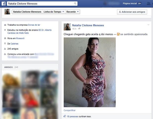 Natalia Cleitone Meneses é investigada na operação Pedra Sobre Pedra (Foto: Reprodução/Facebook)