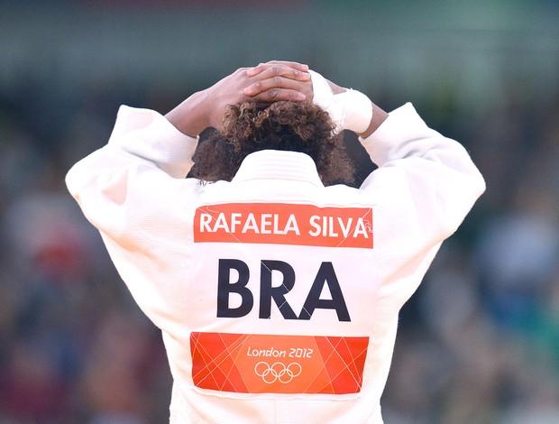 Rafaela Silva é eliminada no judô de Londres (Foto: AFP)