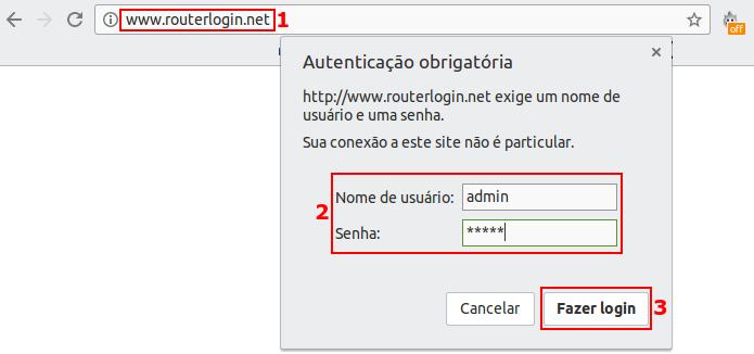 Acessando o roteador pelo navegador usando o endereço padrão (Foto: Reprodução/Edivaldo Brito)