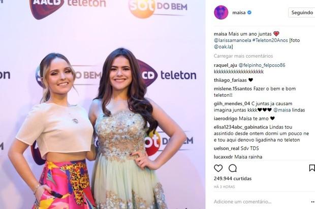 Maisa posta foto com Larissa Manoela (Foto: Reprodução/Instagram)