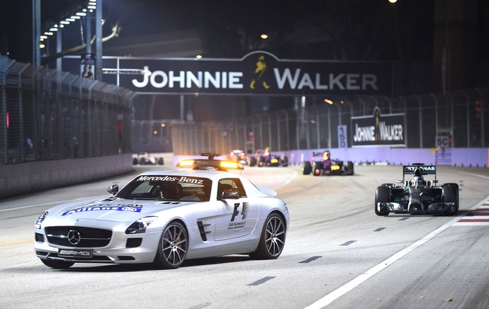 safety car , Formula 1 Cingapura (Foto: Agência AFP )