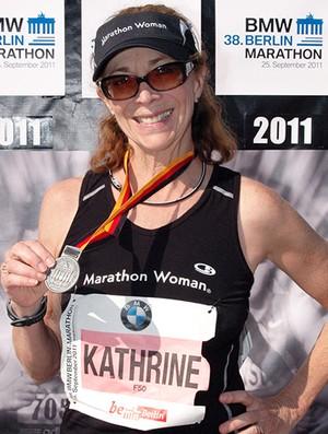 EuAtleta primeira maratonista Kathrine Switzer foto-Marathon_foto.com (Foto: Eu Atleta)