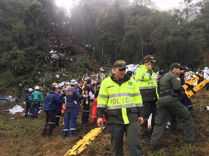 acidente avião chapecoense medellín (Foto: Reprodução Twitter)
