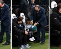 Pequeno torcedor ocupa lugar de Benitez no banco e dá autógrafo ao técnico