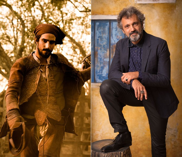 Renato Goes e Domingos Montagner serão Santo nas diferentes fases do personagem em 'Velho Chico' (Foto: Caiuá Franco/ Globo)