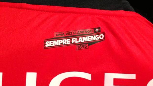 detalhe uniforme Flamengo (Foto: Leandro Garrido)