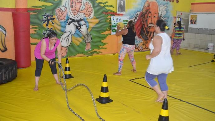 Mulheres aderem à Circuito Funcional para melhorar a saúde no Amapá (Foto: Jonhwene Silva-GE/AP)