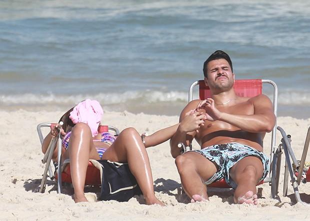 Nicole Bahls e Marcelo Bimbi (Foto: Agnews)
