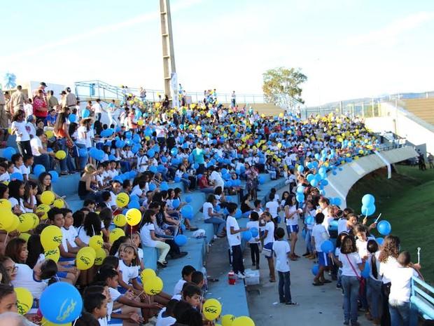 Cerimônia foi realizada no estádio Nilton Santos, em Palms (Foto: PM/ Divulgação)