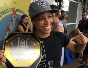 Elaine Albuquerque Treino aberto do 1º Round Combat, em Natal (Foto: Augusto Gomes/GloboEsporte.com)
