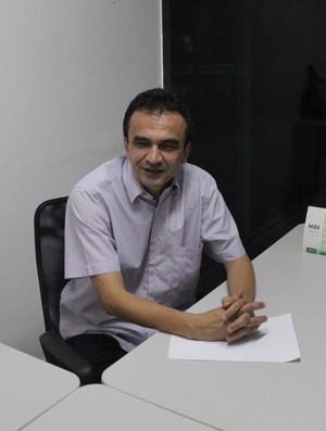 Elizeu Aguiar, presidente do River-PI (Foto: Renan Morais/GLOBOESPORTE.COM)