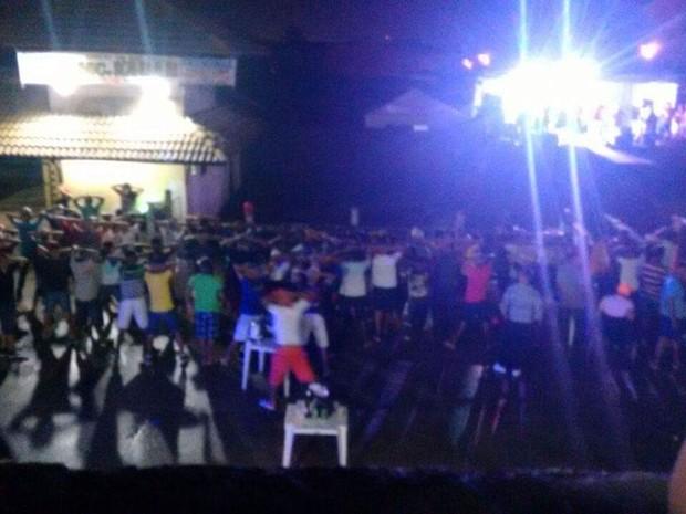 Público da festa era composto por adolescentes (Foto: Divulgação/Polícia Militar do Ceará)