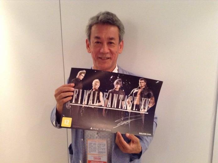 Shinji Hashimoto, produtor de Final Fantasy 15 na Square Enix (Foto: Reprodução/Felipe Vinha)