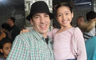 Champignon com a filha, Luiza (Foto: Arquivo Pessoal)