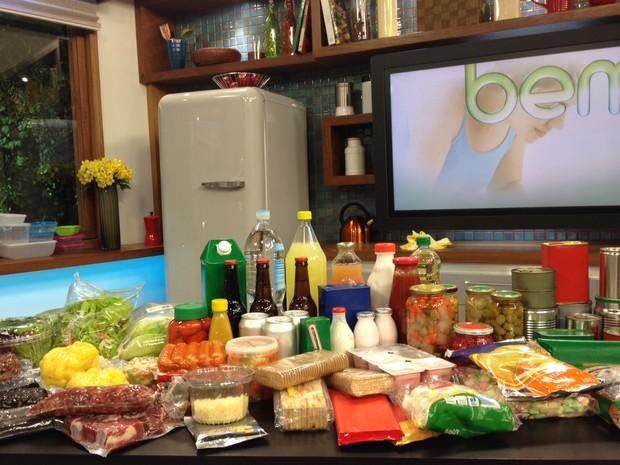 Embalagens de alimentos (Foto: Luna D'Alama/G1)