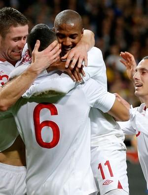 Steven Caulker gol Inglaterra (Foto: Reuters)