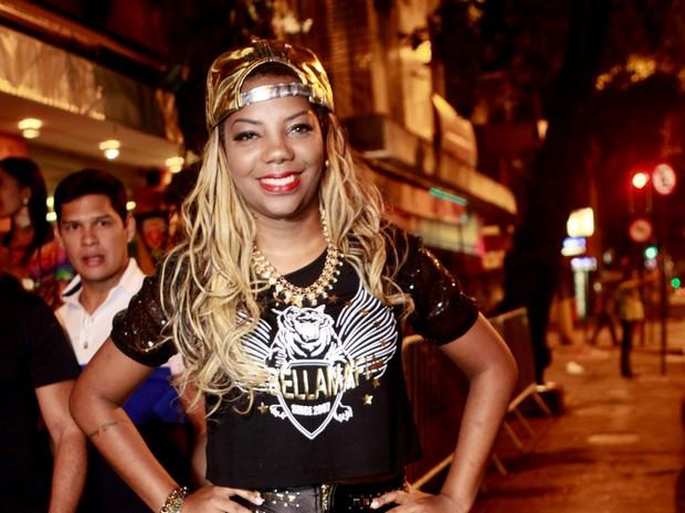 MC Ludmilla em festa na Zona Sul do Rio (Foto: Isac Luz/ EGO)