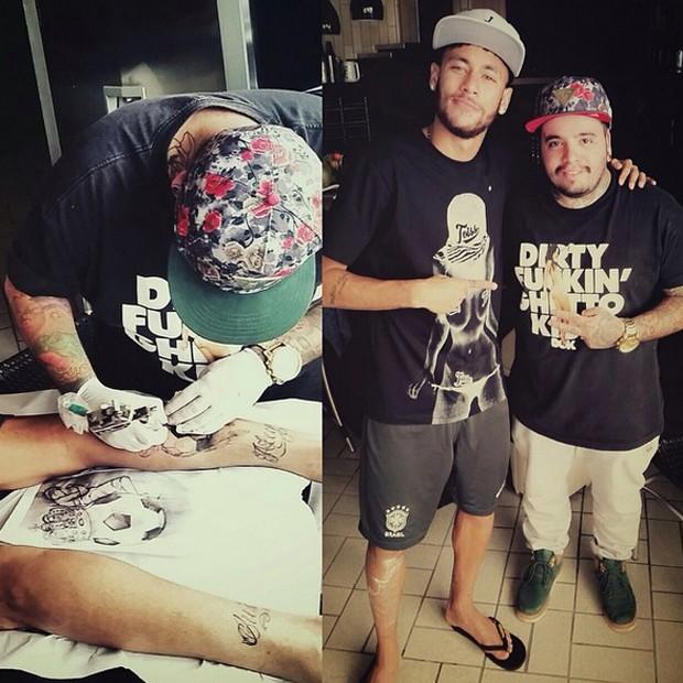 Neymar foi ao Náutica Tatoo na segunda-feira (22) (Foto: Reprodução/Instagram)