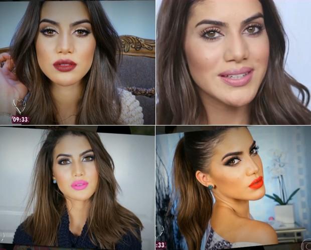 Camila Coelho mostra diferentes looks ensinados no seu blog (Foto: Mais Você/TV Globo)
