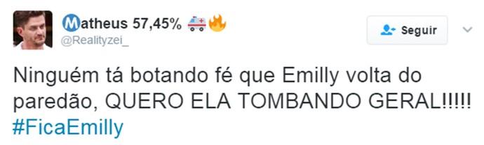 Fica Emilly (Foto: TV Globo)