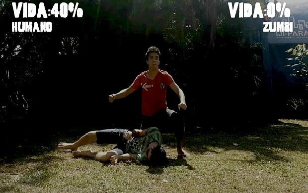 Alunos exibem filme 'O Beijo da Morte' em Ji-Paraná (Foto: Bom Dia Amazônia)