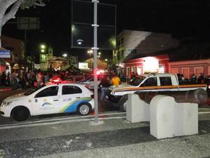 Estrutura do Encontro de Motos de São Pedro da Aldeia foi montada centro da cidade (Foto: Divulgação)