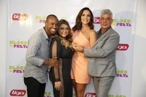 Thiaguinho, Preta Gil, Ivete Sangalo e Lului Santos em bastidores de show no Rio (Foto: Felipe Panfili/ Ag. News)