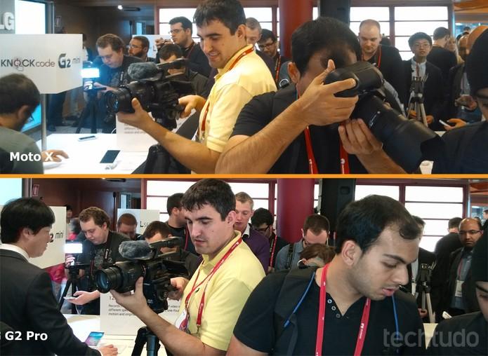 Comparativo entre fotos do Moto X e do LG G Pro 2: fotos mais claras e definidas no coreano (Foto: Allan Melo / TechTudo)