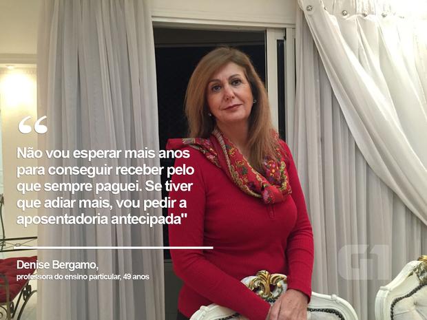 A professora Denise Bergamo, de 49 anos, pensa em pedir aposentadoria antecipada se reforma sair  (Foto: Arquivo pessoal/G1)