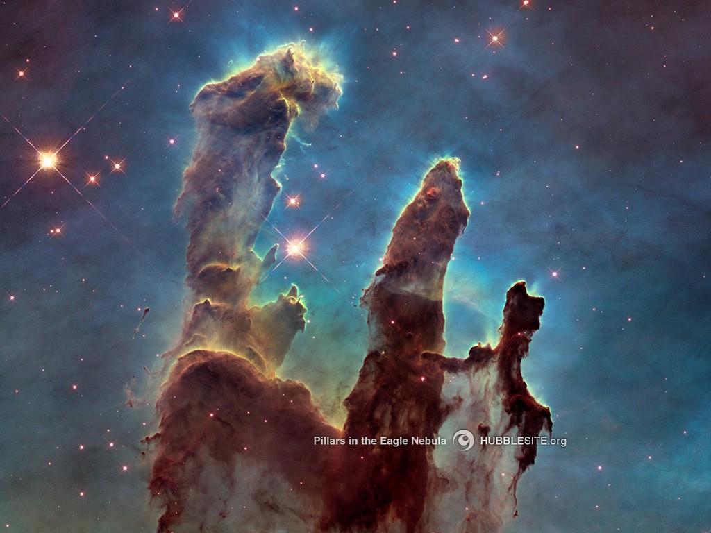Nebulosa da Águia (Foto: NASA, ESA, STScI/AURA)